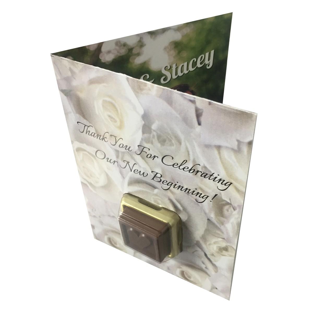 Choco Greeting Wedding Card