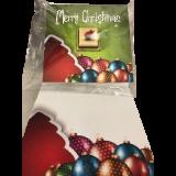 XMAS - CHOCO CHRISTMAS CARDS Singles- -Merry Christmas Ornaments